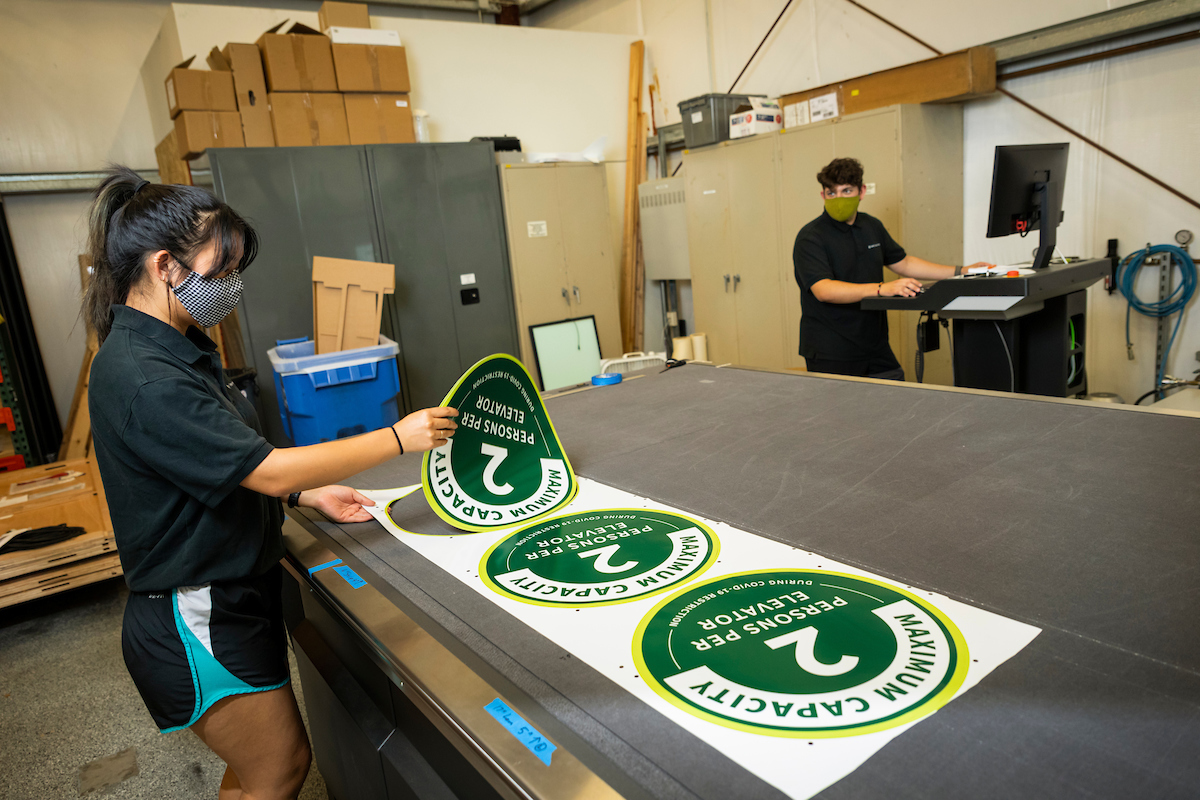 Sign of the Times: Students Use Graphic Communication Skills To Promote COVID Safety Measures   Cal Poly