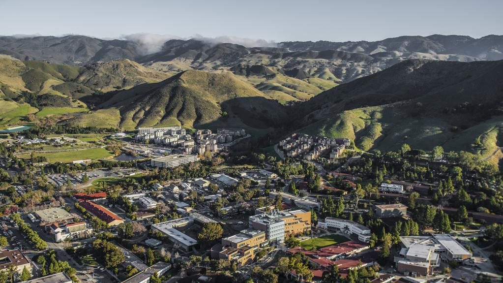 Aerial image of the Cal Poly campus