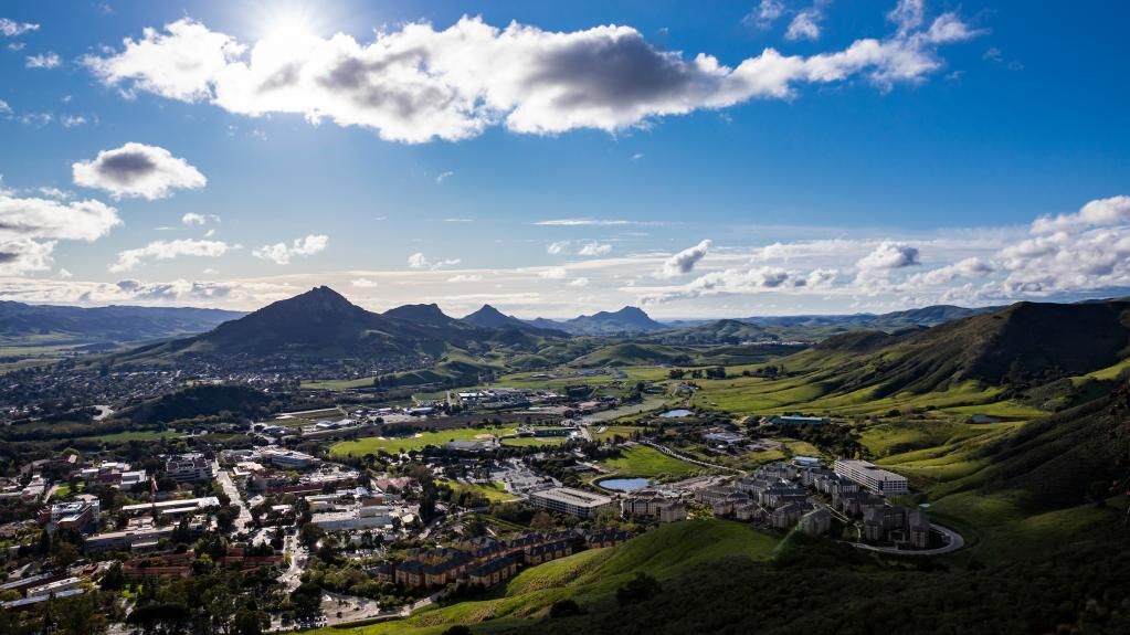 Aerial of Cal Poly in Spring